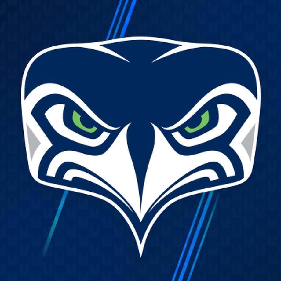 The Seahawks unveiled a new, front-facing logo on social media on Tuesday. Photo: Seattle Seahawks Facebook