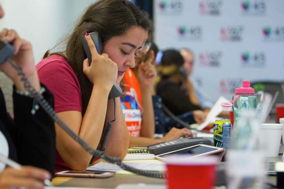 In September, Karla Perez, an undocumented third-year UH law student, answers questions about President Donald Trump's DACA announcement.  Photo: Mark Mulligan, Mark Mulligan / Houston Chronicle / 2017 Mark Mulligan / Houston Chronicle