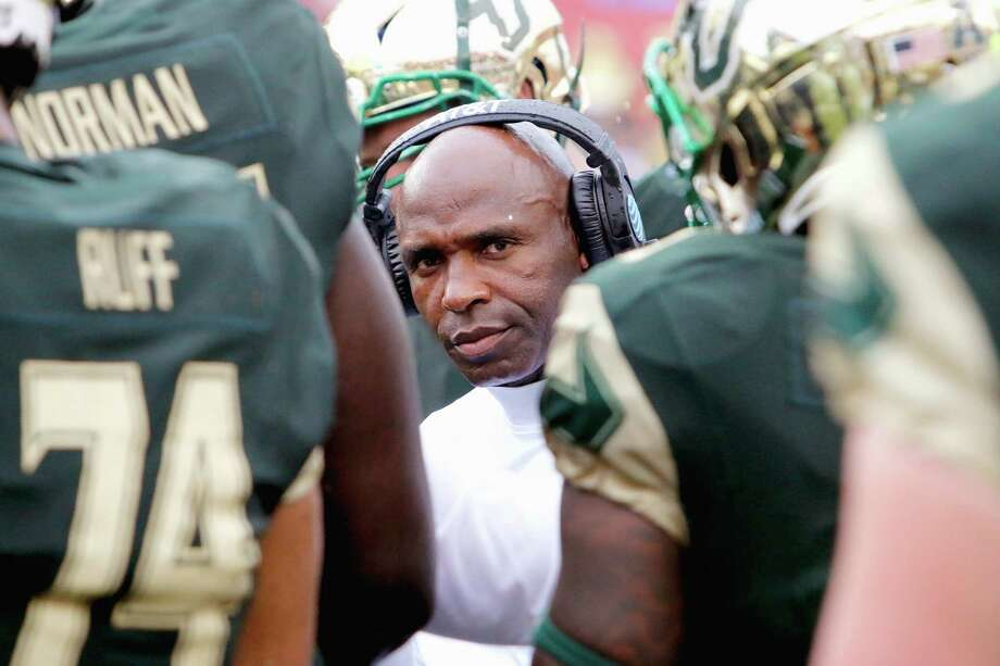 AAC POWER RANKINGS1. USF (2-0)The threat of Hurricane Irma prompted USF to call off its trip to Connecticut for a Saturday game against the Huskies that had been pushed to a morning kickoff. But Friday's home game against Illinois will go on as scheduled, with coach Charlie Strong announcing Tuesday that first responders and their families (up to four per party) will receive free admission. - Joey Knight, Tampa Bay Times Photo: Joseph Garnett Jr., Getty Images / 2017 Getty Images