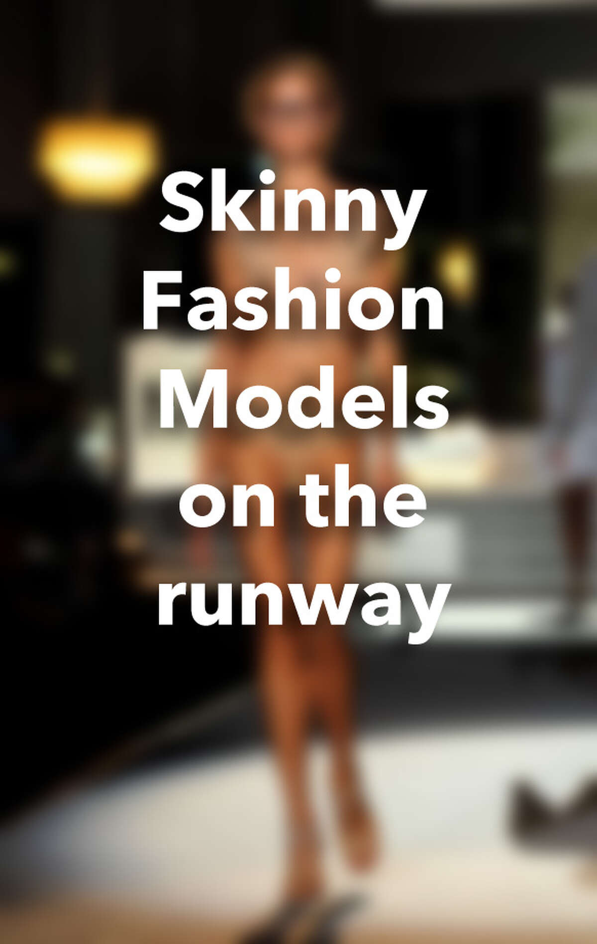 Skinny fashion models on the runway