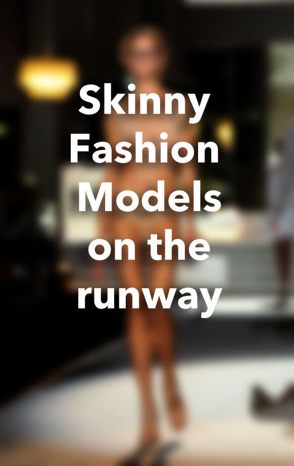 Skinny fashion models on the runway Photo: Getty Images
