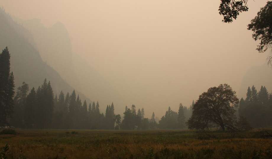 Wildfire smoke chokes Yosemite National Park on Sept. 5, 2017.  Photo: Courtesy Yosemite National Park