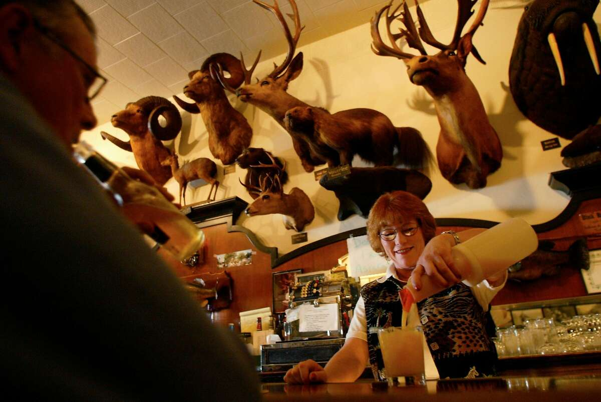 Foster's Bighorn Rio Vista This is a place that will either delight or freak you out. The restaurant displays Bill Foster's massive collection of taxidermy animals from around the world. Foster assembled the collection in the 1930s so that locals could see wildlife from around the world.