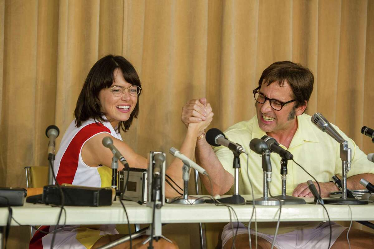 """""""Battle of the Sexes"""" looks to be perfectly cast, with Emma Stone and Steve Carell as Billie Jean King and Bobby Riggs, and perfectly balanced between comedy and drama."""