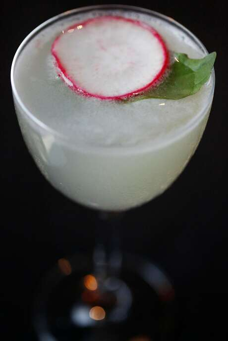 Al's Cut, a vegetal take on the gimlet ($18) at Cold Drinks bar at China Live in S.F. Photo: Leah Millis, The Chronicle