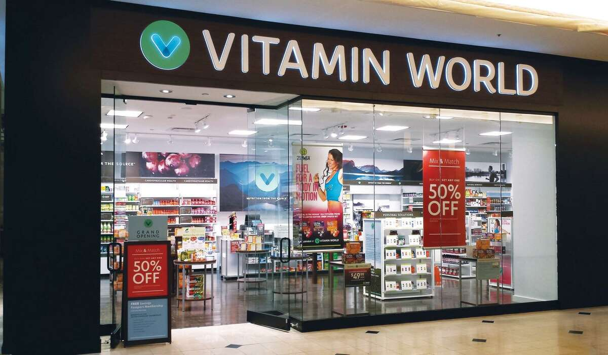 Vitamin World has some 345 stores nationally, including southwestern Connecticut locations at malls in Danbury, Milford and Trumbull. (Photo via PRNewswire)