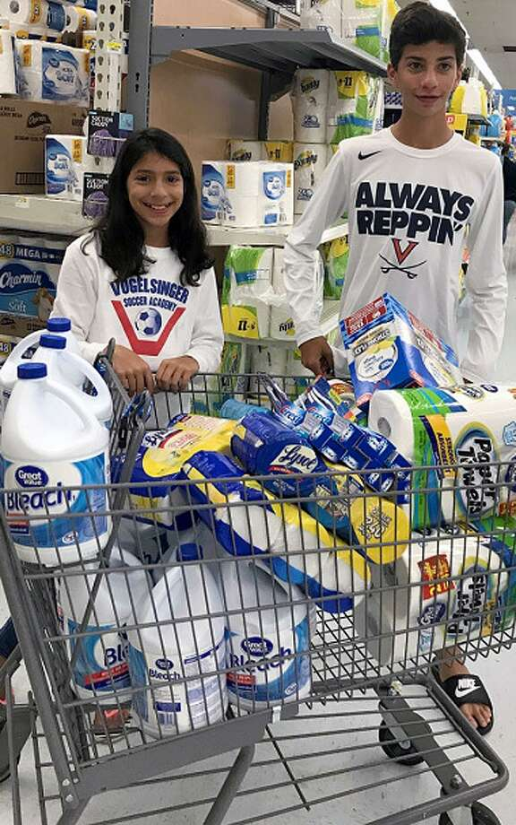 Westporters are doing what they can to help Hurricane Harvey victims. Yesterday, Sammi and Spencer Henske went shopping for supplies.