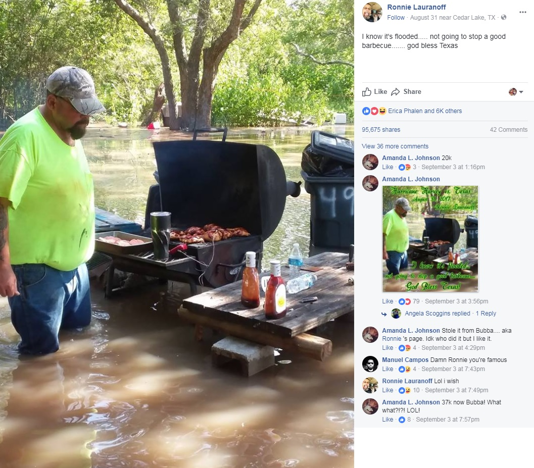 Thigh-high Floodwaters Didn't Stop This Texas Man From