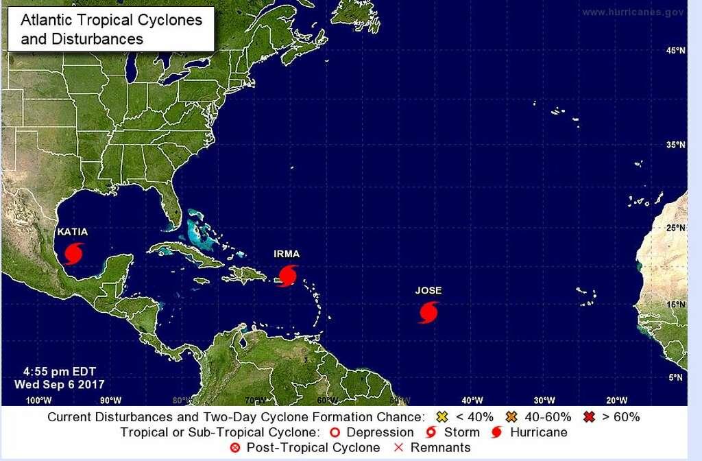 Hurricane Katia forms in Gulf of Mexico  San Antonio ExpressNews