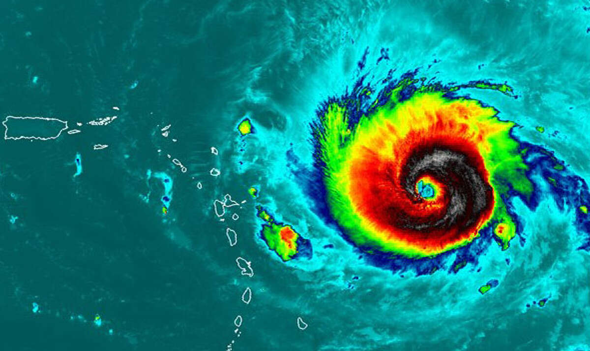 Irma's tropical storm-force winds in the outer bands of the system were about 185 miles from the eye, according to the Washington Post. Click through to see what the massive Category 5 storm would look over places like Florida, Texas, California, Iowa and heavily populated areas in the Northeast like New York City, Philadelphia and Washington D.C.