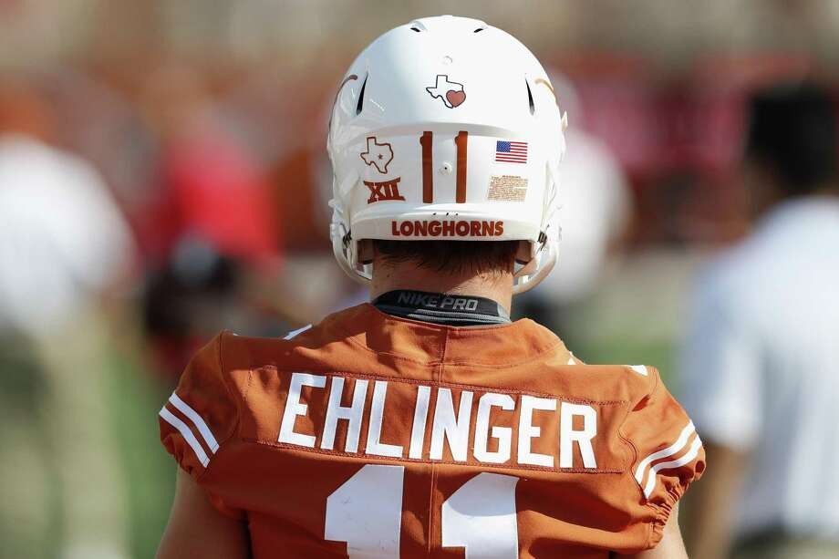 Sam Ehlinger of the Texas Longhorns warms up before the game against the Maryland Terrapins on Sept. 2, 2017 in Austin. Photo: Tim Warner /Getty Images / 2017 Tim Warner