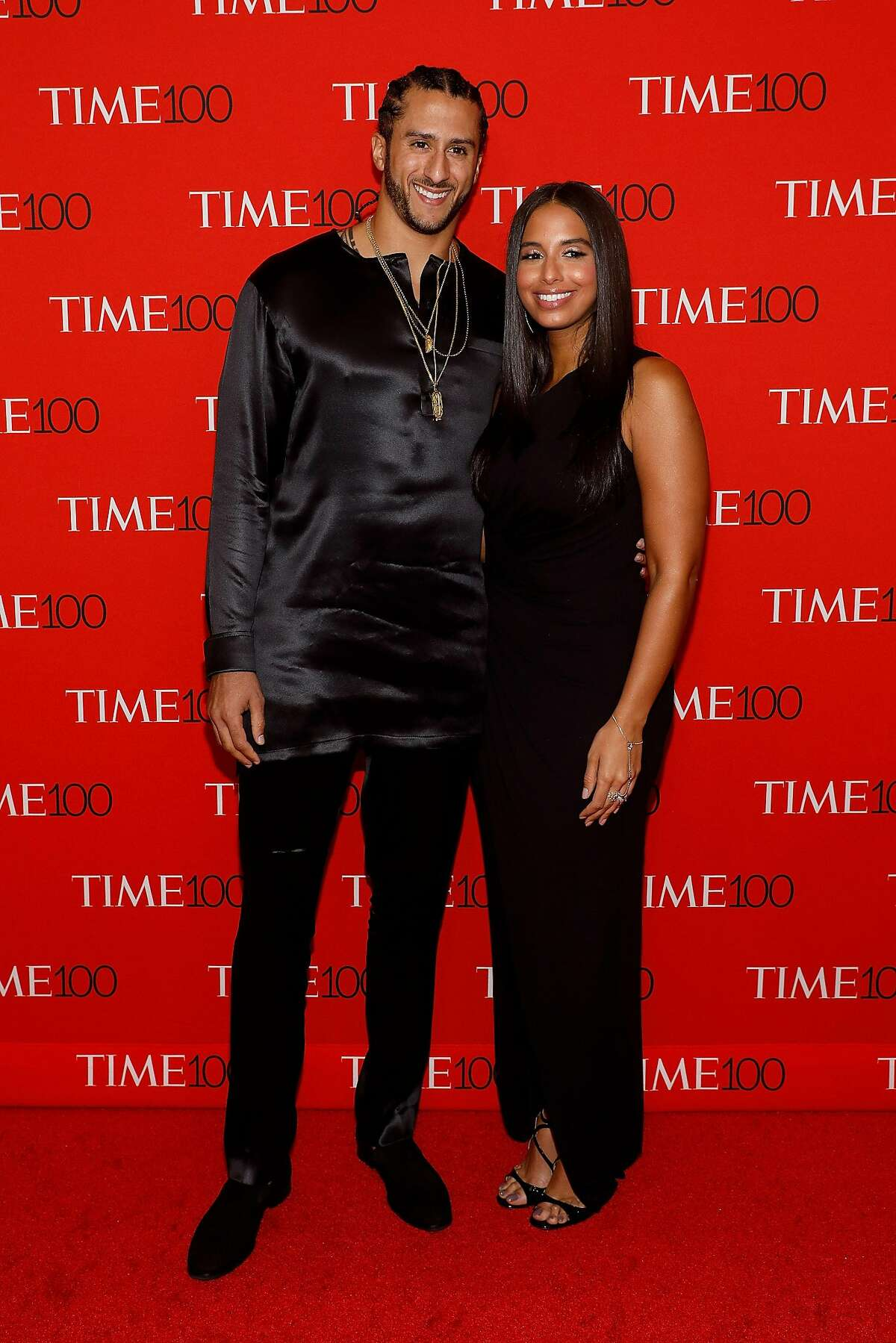 NEW YORK, NY - APRIL 25: Colin Kaepernick and Nessa Diab attend the 2017 Time 100 Gala at Jazz at Lincoln Center on April 25, 2017 in New York City. (Photo by Taylor Hill/FilmMagic)