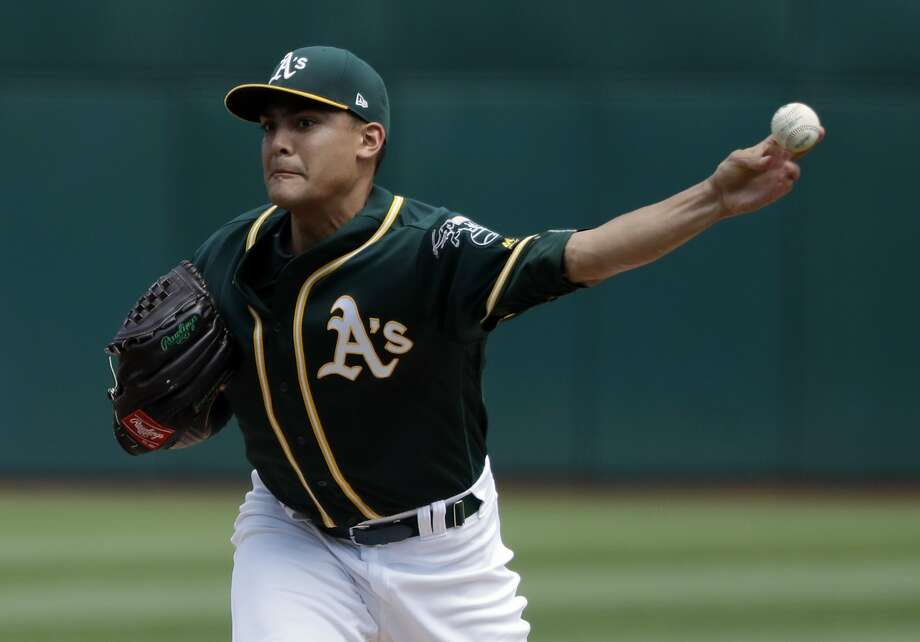 Sean Manaea, who threw six shutout innings, is the only A's starter to make it past the fifth inning in the past week. Photo: Marcio Jose Sanchez, Associated Press