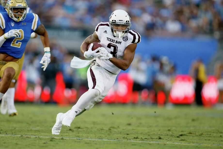 Texas A&M wide receiver Christian Kirk runs against UCLA during an NCAA college football game, Sunday, Sept. 3, 2017, in Pasadena, Calif. UCLA won 45-44. (AP Photo/Danny Moloshok) Photo: Danny Moloshok, FRE / FR161655 AP
