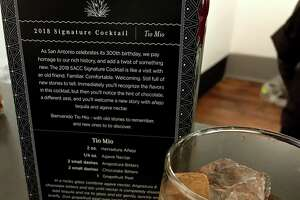 On Wednesday, Sept. 6, the San Antonio Cocktail Conference unveiled its 2018 signature cocktail, the Tío Mío. It's an updated old fashioned, with Herradura Añejo tequila, agave nectar, Angostura bitters, chocolate bitters and the oil from a grapefruit peel.