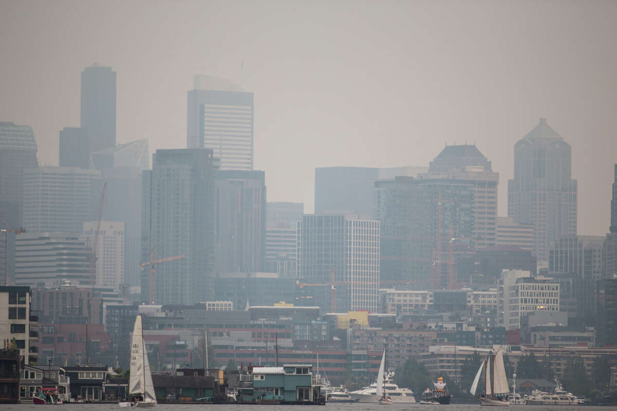 Seattle's air quality got pretty awful last summer, no doubt contributing to the city's placement among the worst in the nation for short-term particle pollution in the American Lung Association's 2018 State of the Air report. Keep clicking to see all the cities that ranked among the worst.
