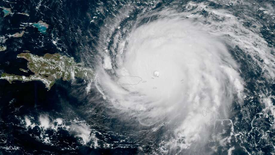 In this NOAA handout image,  NOAA's GOES satellite shows Hurricane Irma  as it makes its way across the Atlantic Ocean in to the Caribbean  -- a category 5 storm with winds as high as 185 miles per hour -- today at about 3:15 pm (eastern), September 6, 2017.  (Photo by NASA/NOAA GOES Project via Getty Images) Photo: Handout/Getty Images