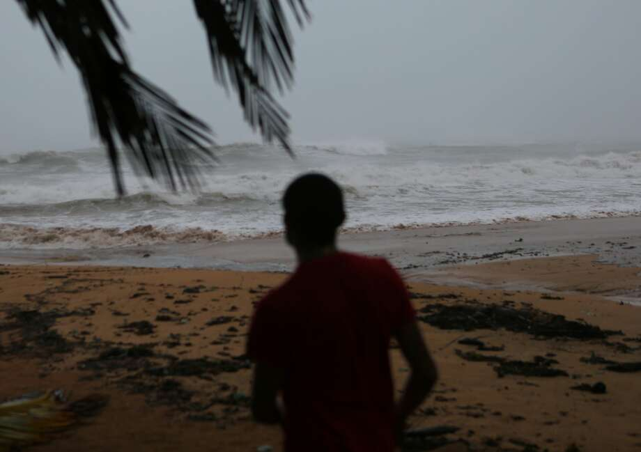 Alexis Ramos looks out to sea at Luquillo Beach prior to the passing of Hurricane Irma on September 6, 2017 in San Juan, Puerto Rico. The category 5 storm is expected to make landfall in Florida by the weekend. (Photo by Jose Jimenez/Getty Images) Photo: Jose Jimenez/Getty Images