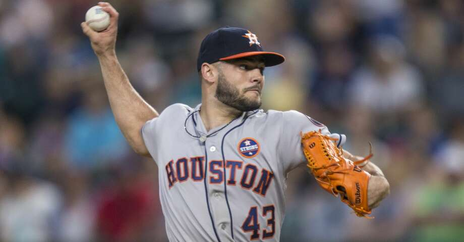 Lance McCullers Jr. threw a bullpen session Saturday as he tries to come back from a bout with arm fatigue. Photo: Stephen Brashear/Getty Images