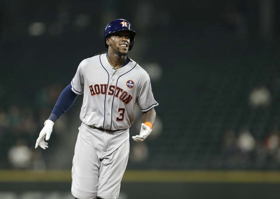 Cameron Maybin has homered three times and driven in eight runs in six games since the Astros acquired him Aug. 31 from the Angels. Photo: John Froschauer/Associated Press