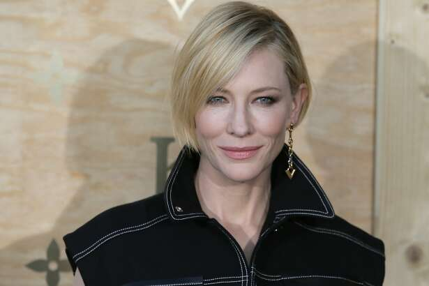 """FILE - In this April 11, 2017, file photo, actress Cate Blanchett poses during a photocall ahead of a diner for the launch of a Louis Vuitton leather goods collection in collaboration with artist Jeff Koons at the Louvre Museum, in Paris. Blanchett, Justin Timberlake, U2 and Salma Hayek are among the stars joining an hour-long live television special about reinventing American high schools. Organizers announced Thursday, Sept. 7, that Kelly Clarkson has also been added as a performer to the star-studded """"EIF Presents: XQ Super School Live"""" show. (AP Photo/Francois Mori, File)"""