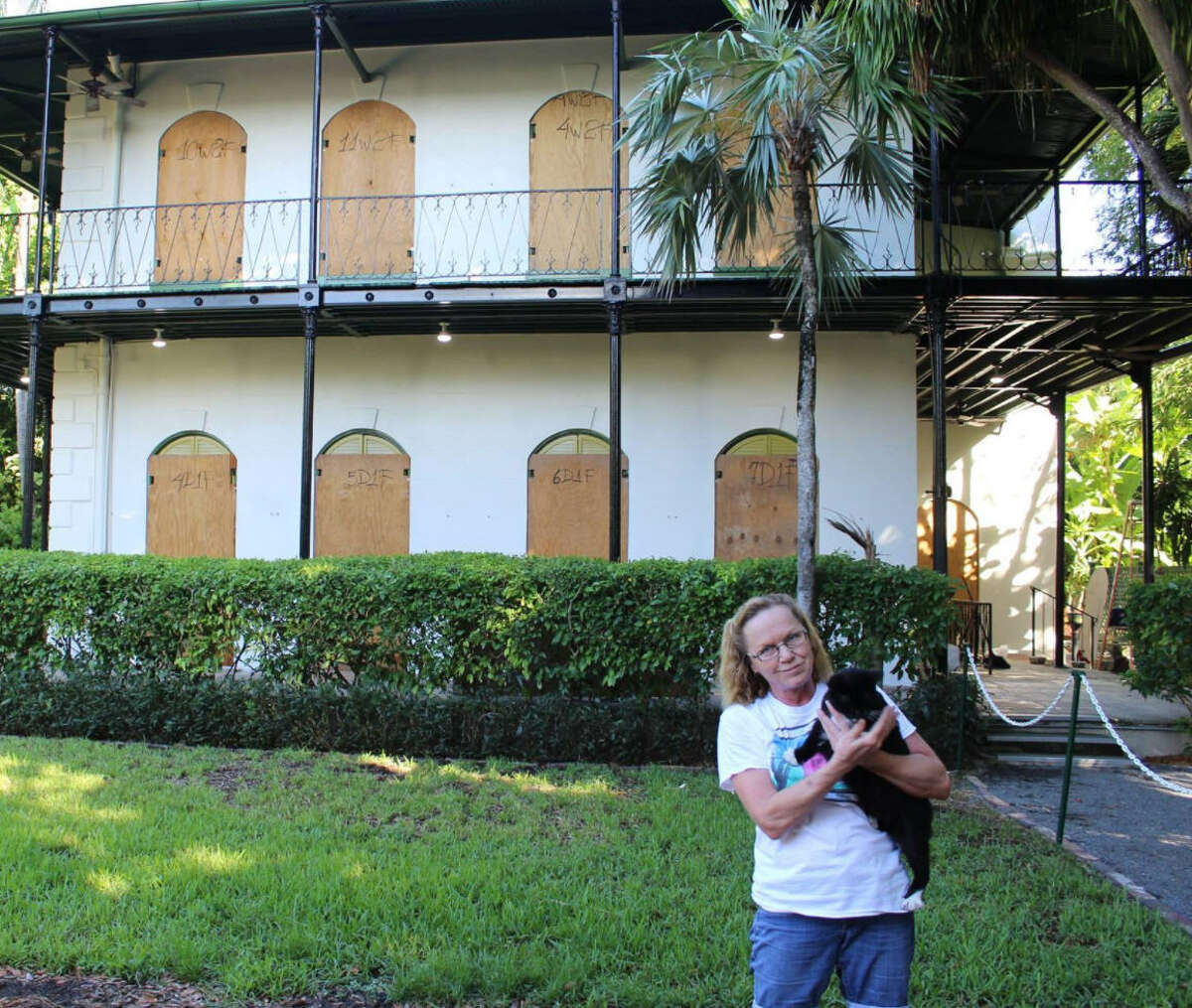 The Hemingway Home Museum in Key West is prepared for Hurricane Irma on Sept. 7, 2017. Executive director Dave Gonzalez said the 54 cats will be cared for by 10 staff members staying behind to weather the hurricane. The cats will have access to shelter during the storm.