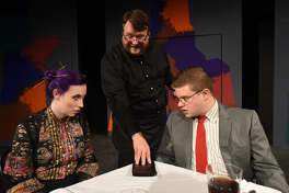 """Nicholas McRae, center, stars in Midland Community Theatre's production of """"First Date,"""" which opens Friday and runs through Sept. 30"""