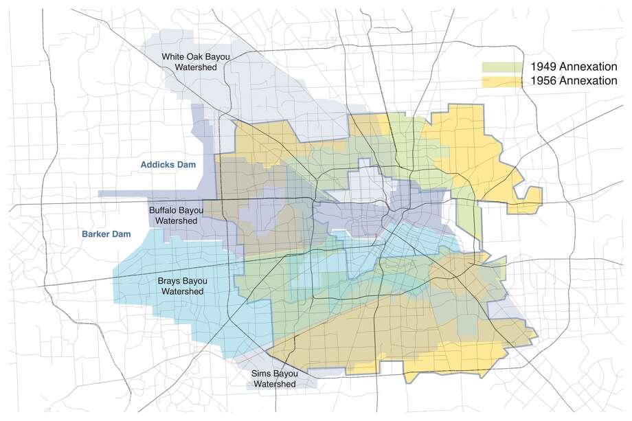 "Houston's ""Mad Men"" belt lies in major watersheds. Photo: Bruce Race / CeSAR"