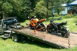 Deputies with the Precinct 5 Constable's Office executed a search warrant at a home in the 26800 block of Sea Turtle Lane in Magnolia on Wednesday, Sept. 6, 2017. While at the residence, the deputies located two stolen motorcycles and a stolen shotgun, authorities said.