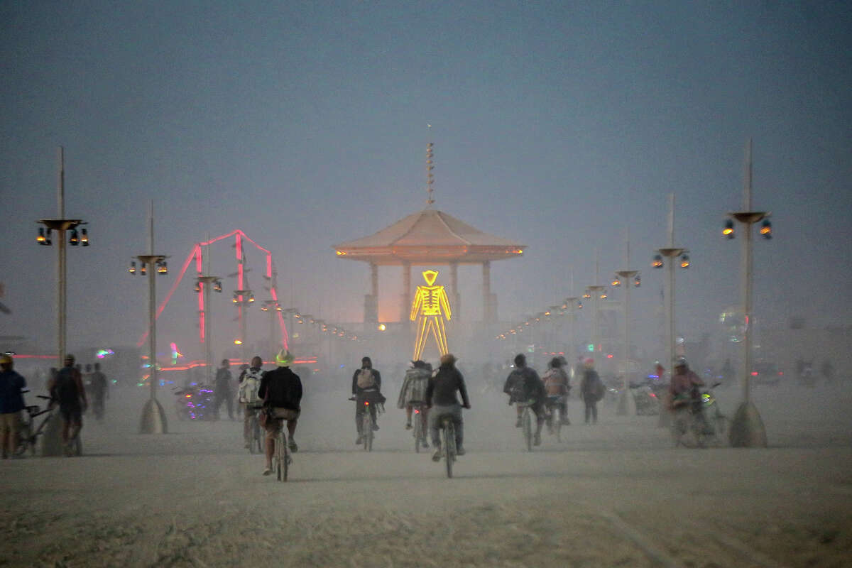 Participants attend Burning Man 2017, the largest outdoor arts festival in North America, in the Black Rock desert of Gerlach, Nevada. (