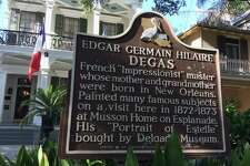 Edgar Degas found inspiration for some of his best work at the home of his mother on Esplanade in New Orleans. He spent several months painting in a studio there in 1872-73.