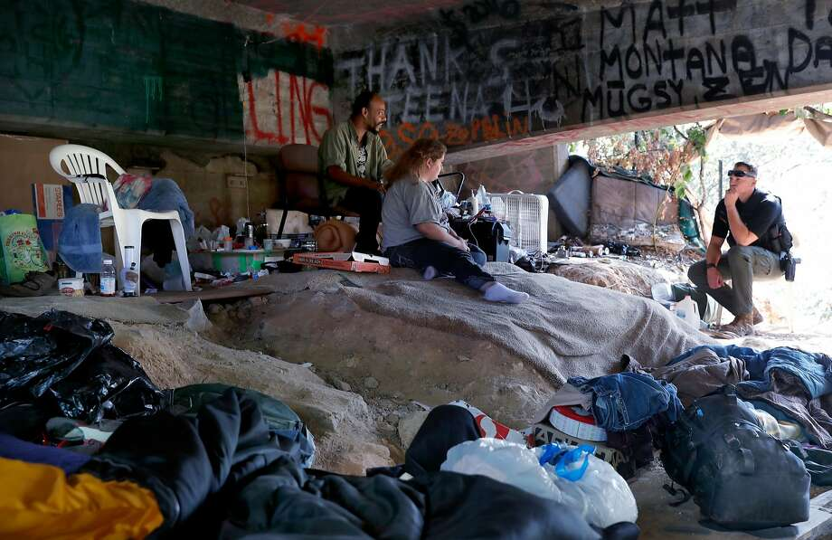 An encampment on the outskirts of Placerville, in El Dorado County. Photo: Michael Macor, The Chronicle