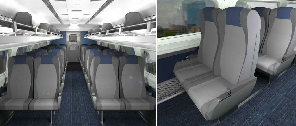 A Rendering Shows What Amtraku0027s Renovated Passenger Cars Will Look Like  Following Planned Improvements.