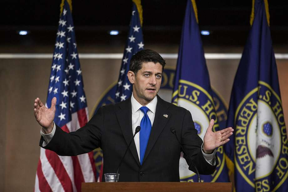 House Speaker Paul Ryan opposes short-term extensions of the debt limit, like the one agreed to by the president. Photo: Zach Gibson, Bloomberg