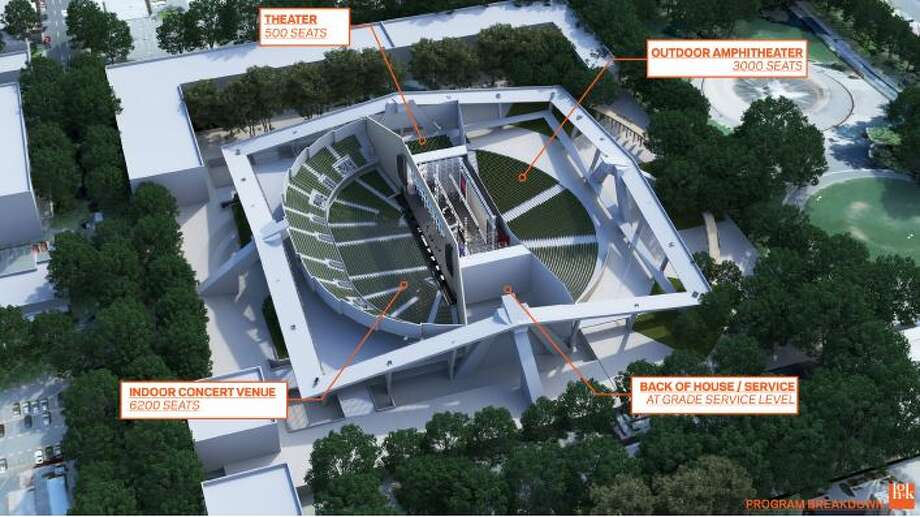 Renderings show the Sodo arena group's proposed indoor/outdoor concert space at KeyArena. Photo: Courtesy Sonics Arena