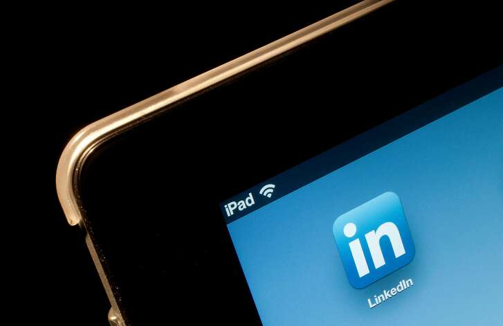 The LinkedIn Corp. application icon is displayed on an Apple Inc. iPad in New York, U.S., on Thursday, April 26, 2012. For a pioneering tech company, LinkedIn Corp. took its time creating an app for the iPad crowd. Even Facebook Inc., the newer social networking service that has yet to go public, introduced a long-awaited iPad app in October.
