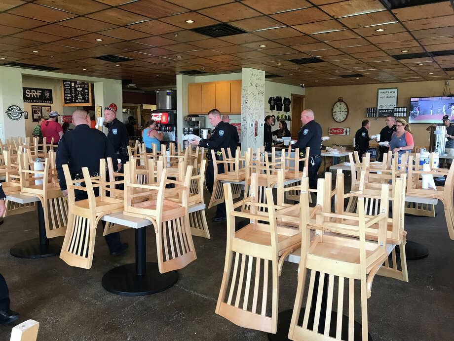First responders dine for free at Killen's Barbecue. Photo: Courtesy Ronnie Killen