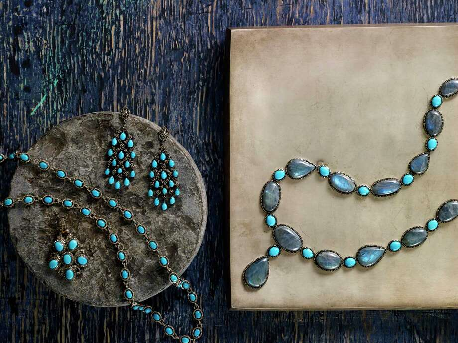 Turquoise and diamond jewelry from Modern Moghul  Photo: Modern Moghul