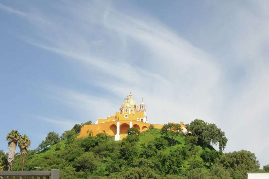 The Shrine of Our Lady of Remedies sits atop a pyramid in Cholula, Mexico. Photo: Melissa Ward Aguilar