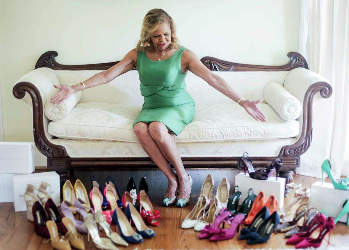 Yvonne Cormier and her shoe collection for Luxe Life. Saturday, Aug. 5, 2017, in Housotn. ( Elizabeth Conley / Houston Chronicle )