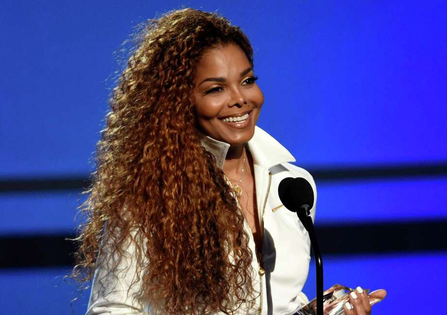 Janet Jackson accepts the ultimate icon: music dance visual award at the BET Awards in Los Angeles. Photo: Chris Pizzello, INVL / Invision