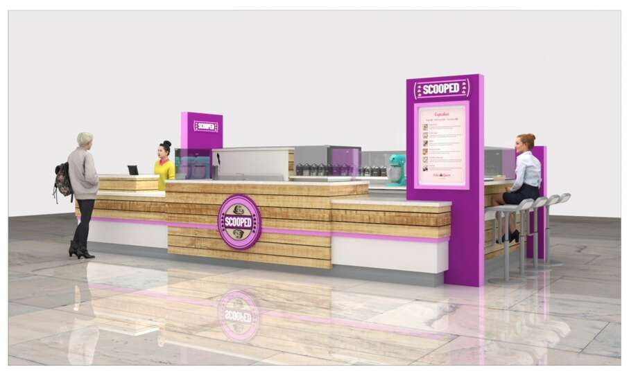 Rendering of the Scooped Cookie Dough Bar Photo: Courtesy, Scooped Cookie Dough Bar