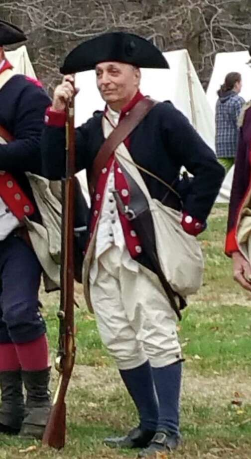 Joseph Cerreto, a reenactor in the Second NY Regiment, will discuss the Revolutionary War Battle of Long Island at the Brookfield Historical Society on Monday. Photo: / Contributed Photo