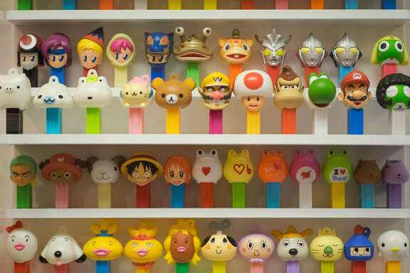 Pez dispensers from Japan are seen at the Pez Museum in Burlingame, Calif. on Thursday, Sept. 7, 2017. The museum is the only of its type in the world and features some of the rarest Pez dispensers as well as banned toys.