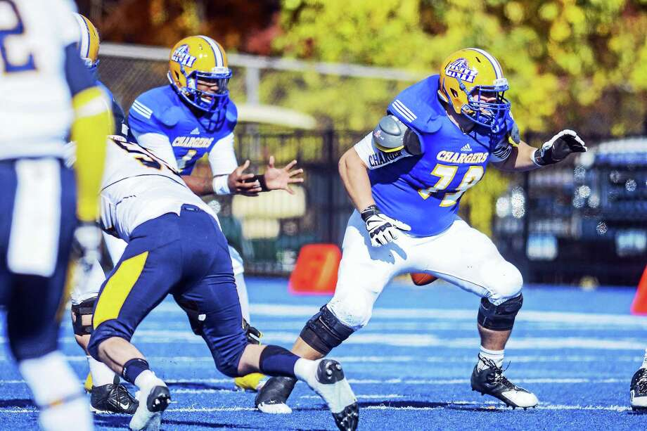 University of New Haven offensive lineman Shane Fisher. Photo: Photo Courtesy Of UNH Athletics / © 2015 Clarus Studios Inc.u