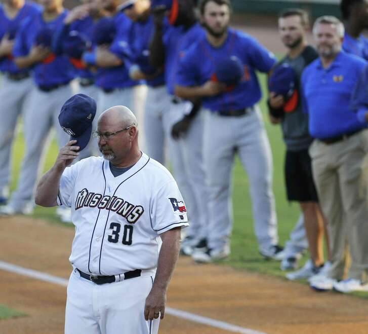 Missions' manager Phillip Wellman before the game against the Midland RockHounds in Game 1 of the Texas League South Division Championship series at Wolff Stadium on Wednesday, Sept. 6, 2017. (Kin Man Hui/San Antonio Express-News)