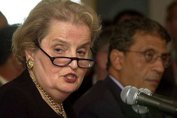 Madeleine Albright, Secretary of State who was a refugee 50 years before