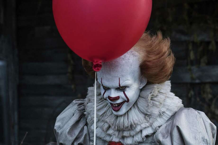 """San Antonio area clowns have differing reactions to the popularity of the evil clown trope on TV and in movies. For example, Pennywise the Dancing Clown will be scaring the bejesus out of moviegoers with the opening of the film """"It,"""" based on the horror novel written by Stephen King. Photo: Brooke Palmer /New Line Cinema / © 2017 Warner Bros. Entertainment Inc. and RatPac-Dune Entertainment LLC All Rights Reserved"""