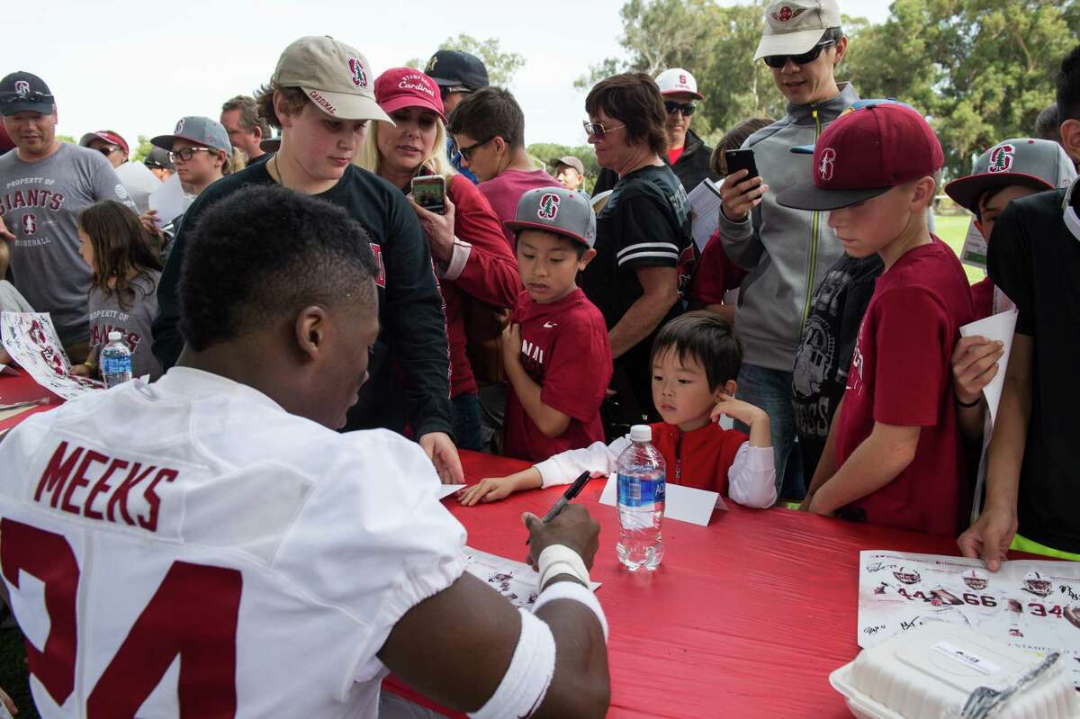 STANFORD, CA -- April 15, 2017 Stanford Football Cardinal and White game. Cardinal (offense) wins over White (defense) 37-30.