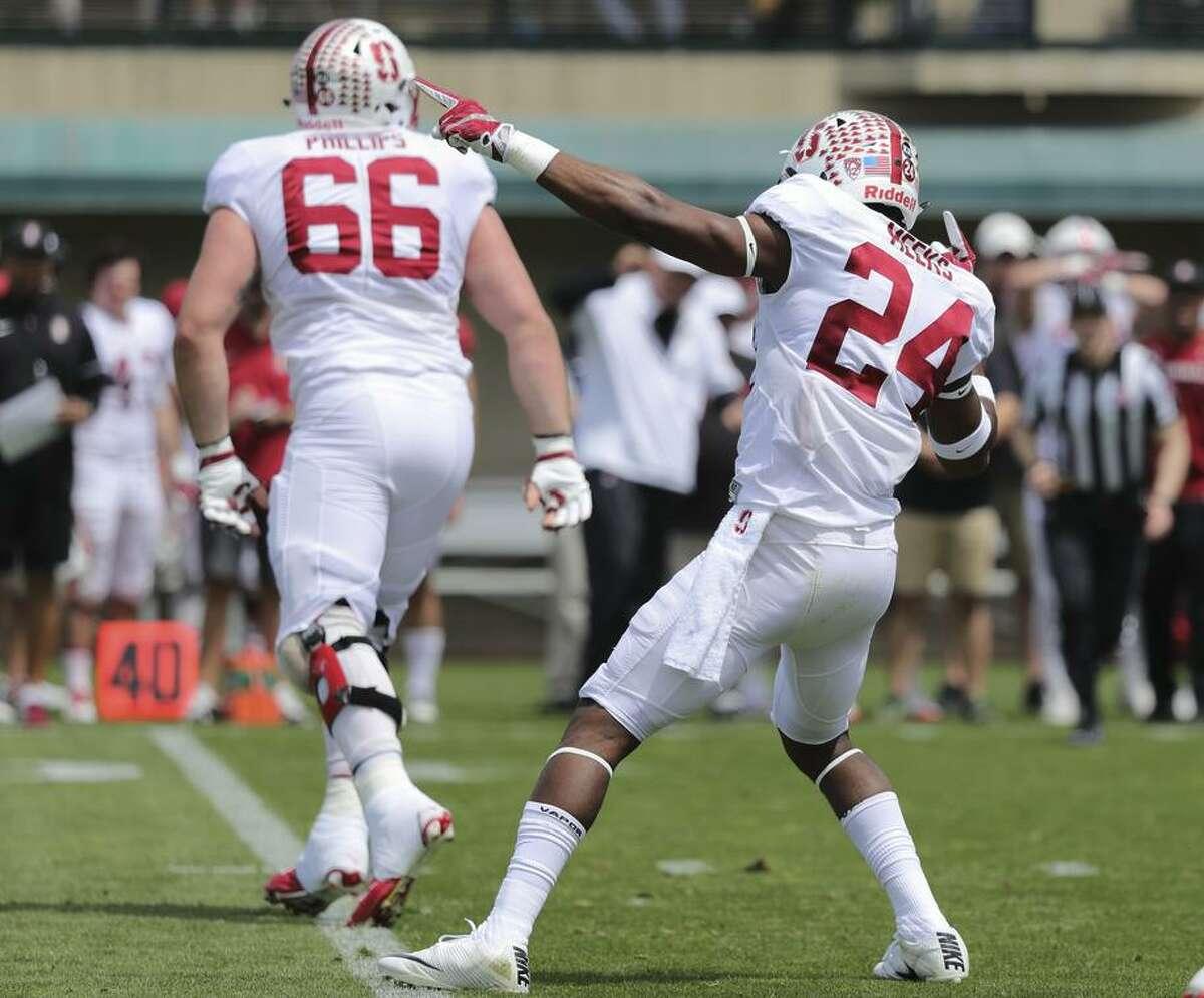 "Stanford junior cornerback Quenton Meeks (24) has dubbed himself ""Showtime."""